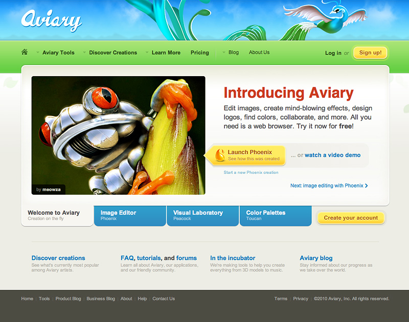 Aviary Screenshot